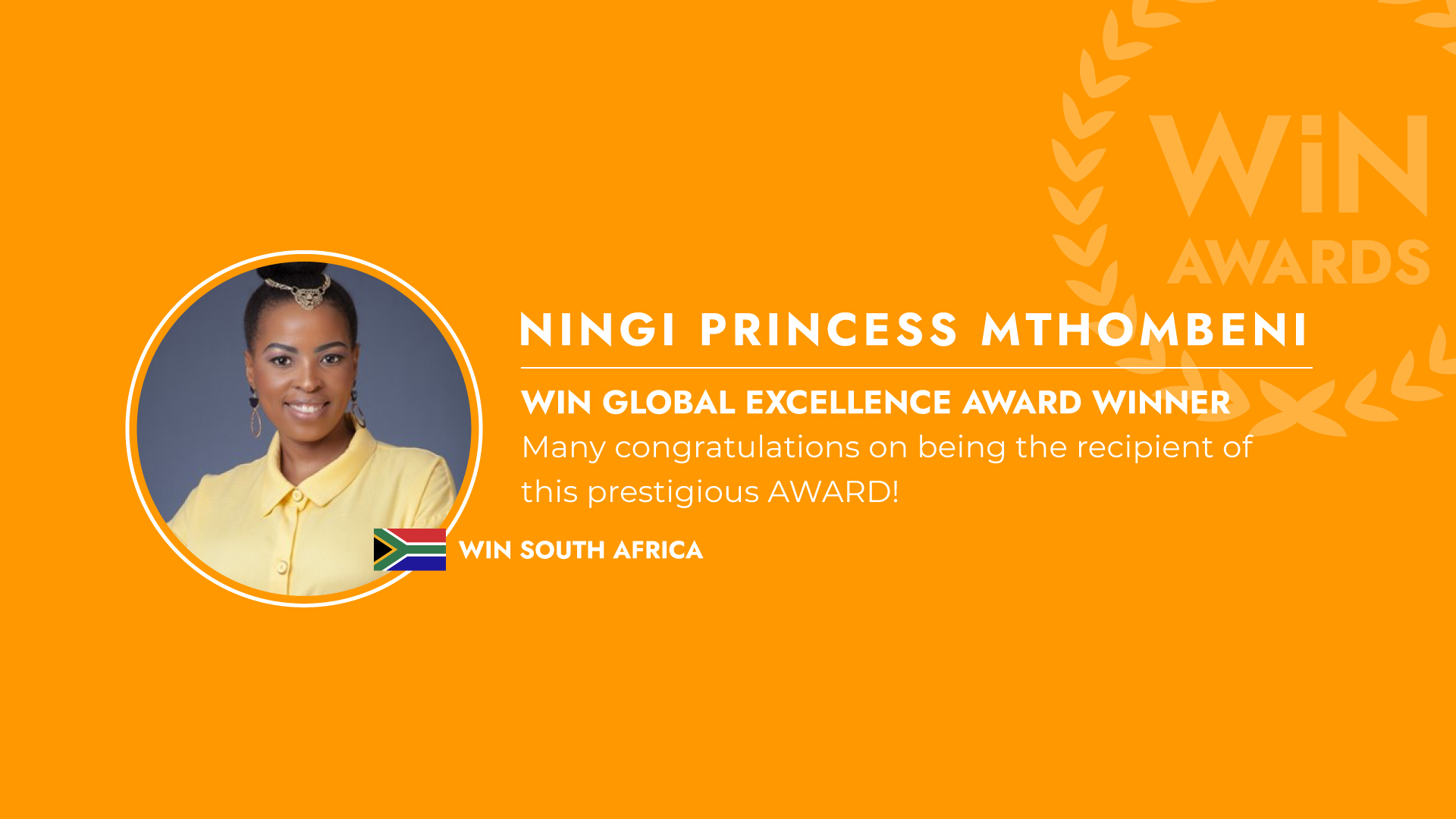 WiN Global Excellence award